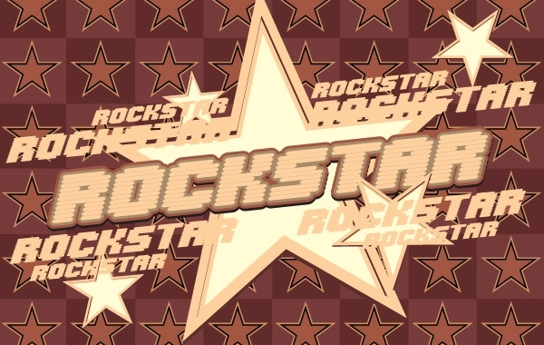 Free Rock Star Vector Graphic