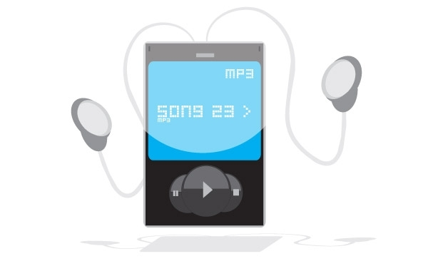 Free Free MP3 Player Vector Graphic