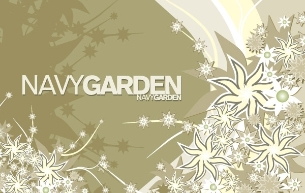 Free Free Vector Composition Navy Garden