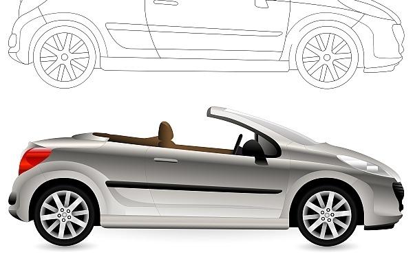 Free Convertible. Cabriolet Car.