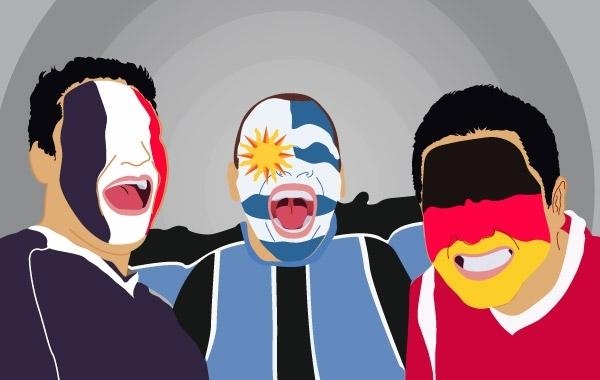 Free Vectors: World cup fans   catitha