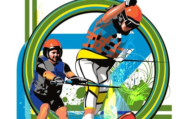 Free Water Skiiers