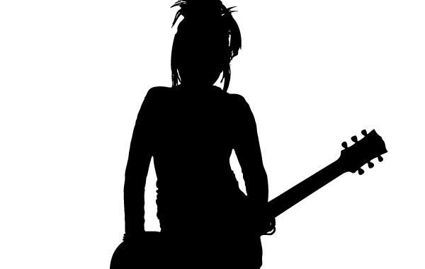 Free Girl Rocker Silhouette