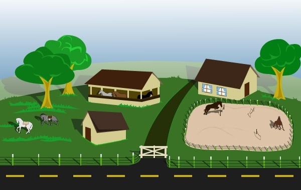 Free Horse farm