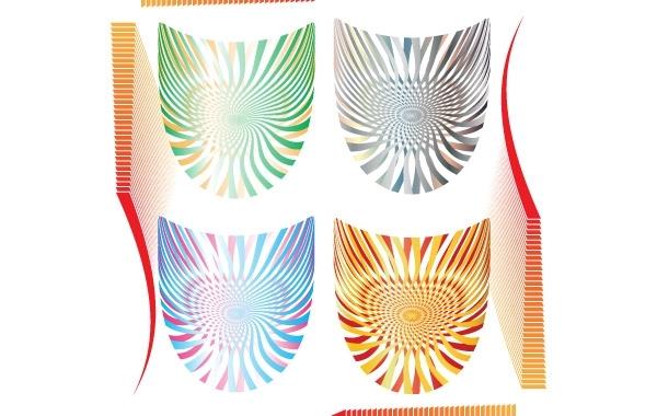 Free Vectors: Op Art Shields Free vectors | Nick2001