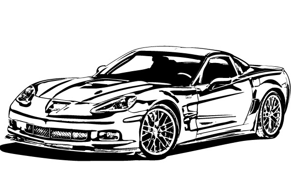 Free Corvette ZR1 Vector