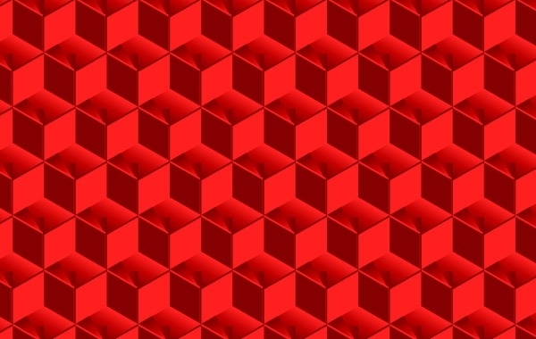 Free  Red Cubed Pattern