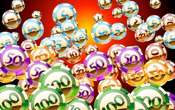 Free Free set of vector Golden an shiny casino chips