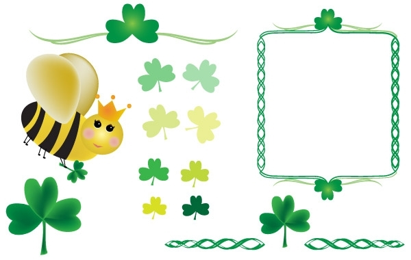 Free Vectors: Shamrocks and Queen Bee | chariss_valerie