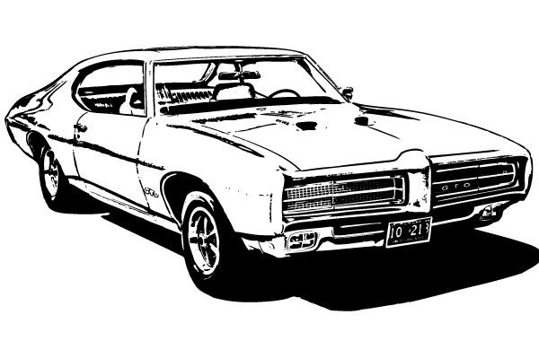 Free Vectors:  Free 1969 GTO | mygraphix