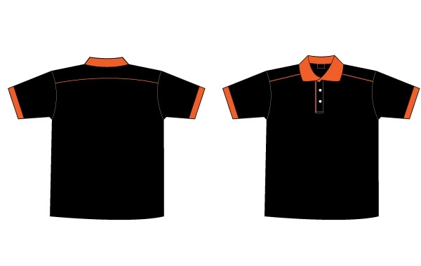 Free Free Black & Orange Collar T-Shirt Template