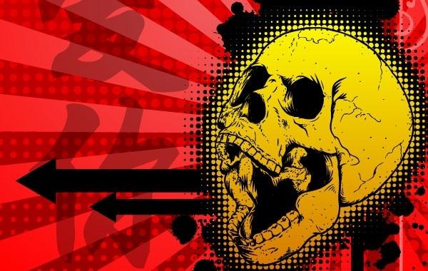 Free Free Kanji Skull Illustration