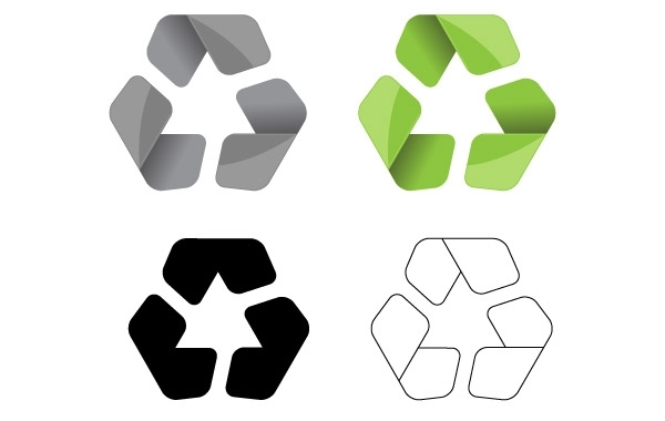 Free Modern Recycle Symbol Vector
