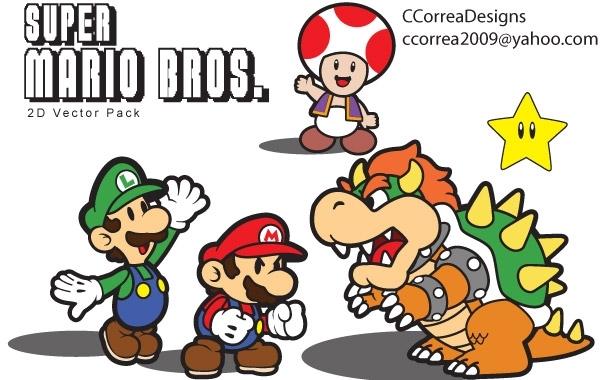 Free Super Mario Vector Pack