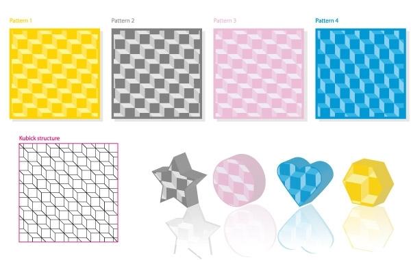 Free Kubick 3D Pattern