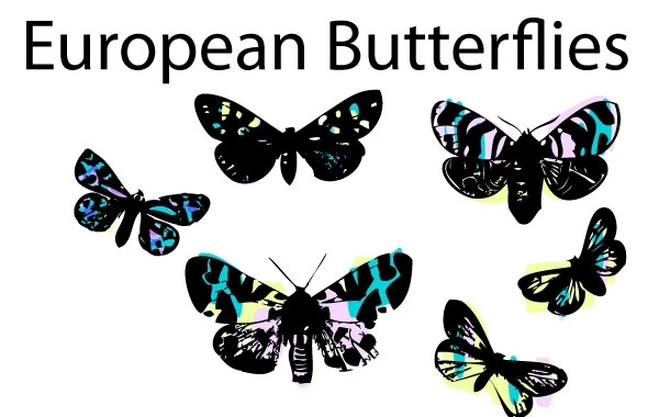 Free Stained Glass Butterflies by LVF