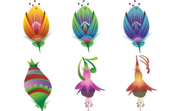 Free  Vector Flower Icons