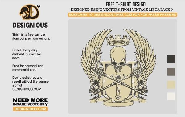 Free Crest T-Shirt Design
