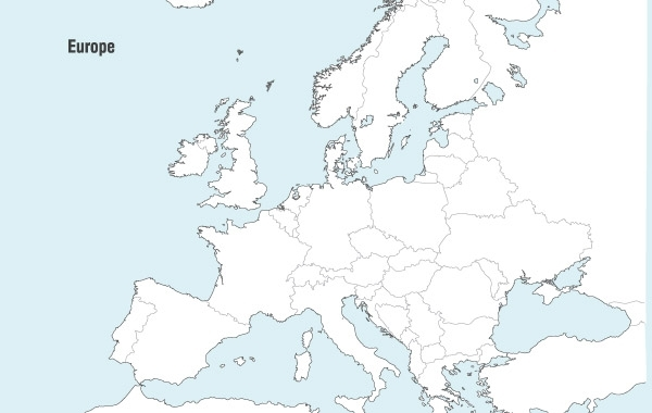 Free Europe Map Vector