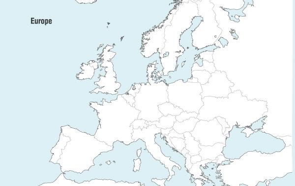 Free Vectors Europe Map Vector erind