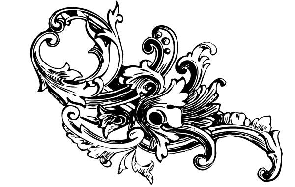 Free Baroque Ornament Vectors Vol1