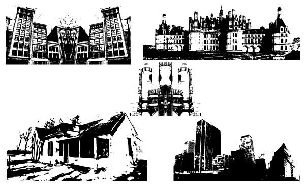Free Vectors: Building Series | stock-graphic-designs