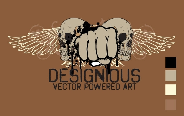 Free Free vector t-shirt design 3