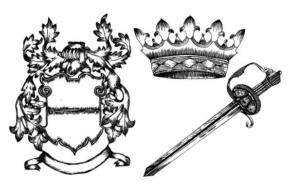 Free Hand Drawn Heraldic Elements