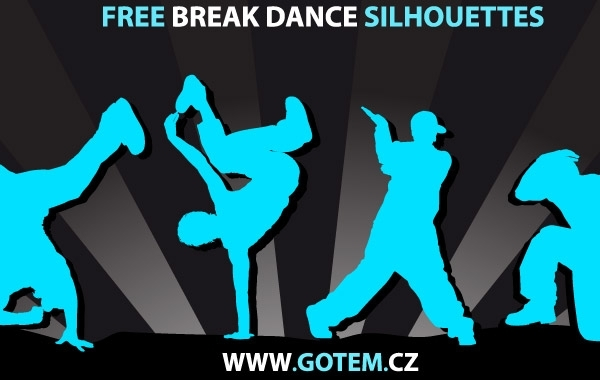 Free Breakdance Silhouettes