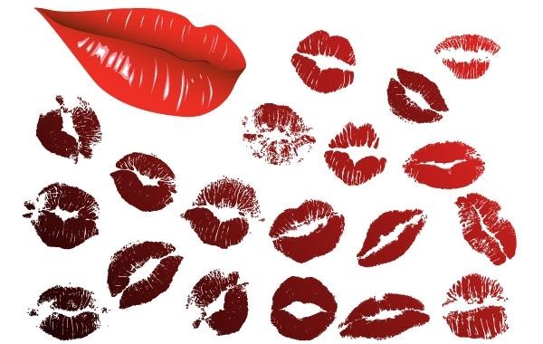 Free Vector Lips Kiss