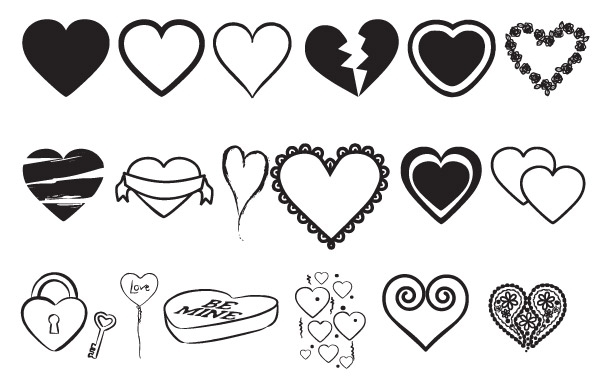 Free Hearts Vectors Mix