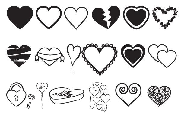 Free Vectors: Hearts Vectors Mix | freedesignmagazine.com