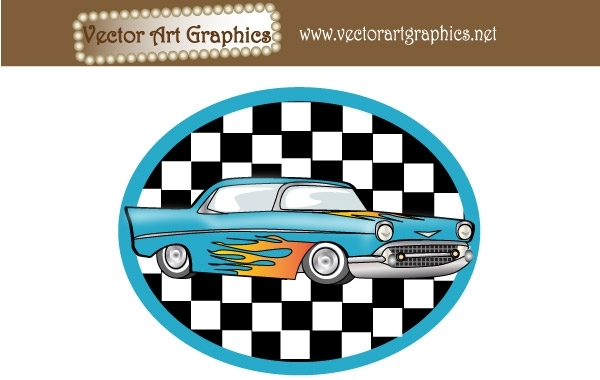 Free Vector Art Graphics - Classic Automobile