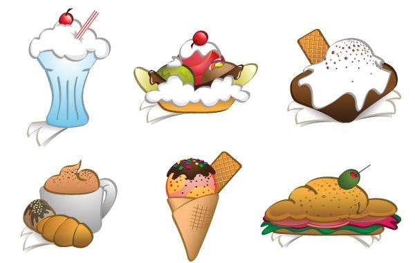 Free 6 Free Vector Dessert Cliparts