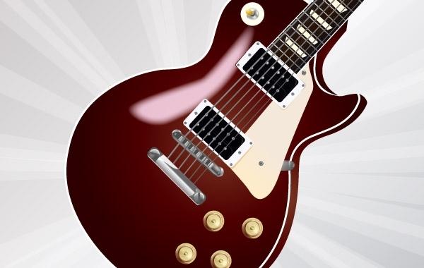 Free Vector Les Paul Guitar