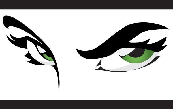 Free Vectors: Green Eyes | Gielis Dimitri