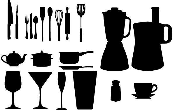 Free Free Vector Kitchen Appliances Silhouettes