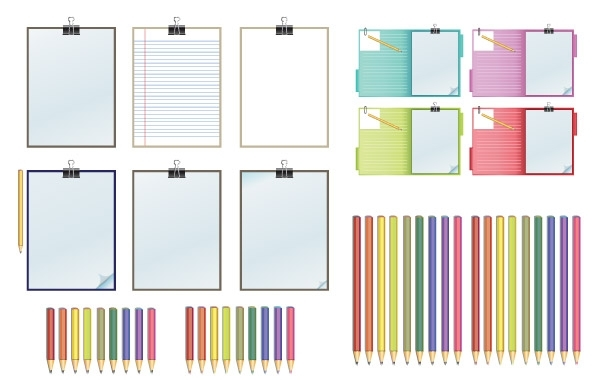 Free Clipboard and Pencils Vector