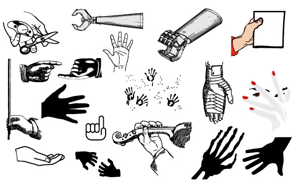 Free Hand Vector Pack