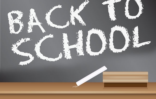 Free Back to School Blackboard Sign design