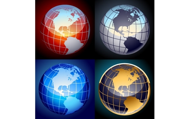 Free Free set of vector globes