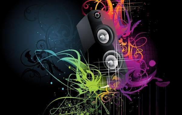 Free Grunge artistic speaker wallpaper