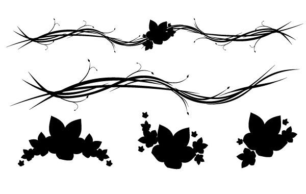 Free Free Horizontal Floral Ornaments