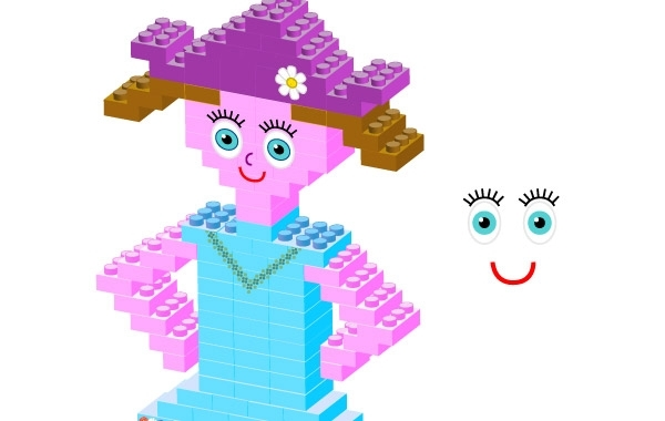 Free Plastic bricks Girl
