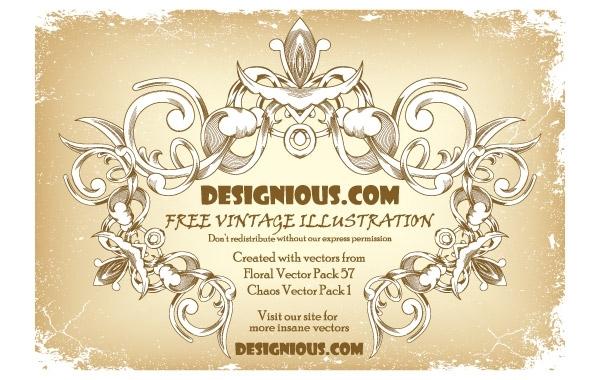 Free Free vintage floral frame