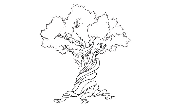Free FREE VECTOR TREE - EARTH WEEK