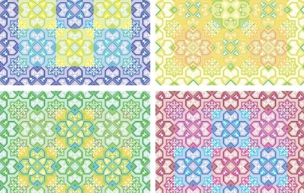 Free Colored Pattern Background Vector