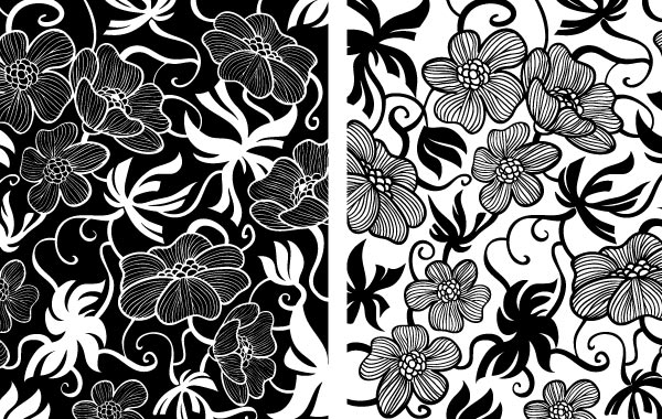 Free European Art Deco Floral Vectors