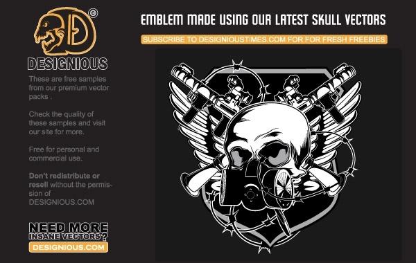 Free Free vector skull emblem