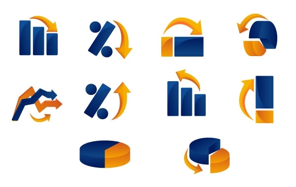 Free Vector Graph and Chart Icons